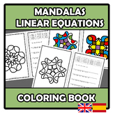 Coloring book - Mandalas - Linear equations - Ecuaciones lineales