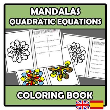 Coloring book - Mandalas - Quadratic equations - Ecuaciones de segundo grado