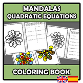 Coloring book - Mandalas - Quadratic equations - Ecuacione