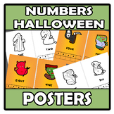 Coloring book - Posters - Numbers (Halloween)