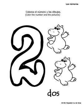Coloring book of numbers