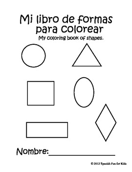 Coloring book of shapes
