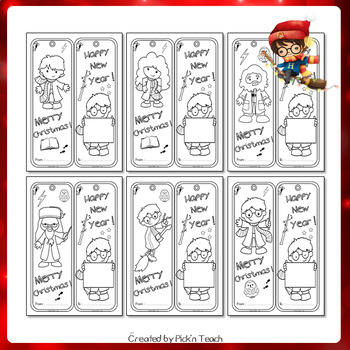Coloring bookmarks for wizards ! kids, parents, teachers- Christmas GIFTS