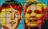 Coloring by Fractions - Donald Trump vs Hillary Clinton (Two 20-Sheet Mosaics)