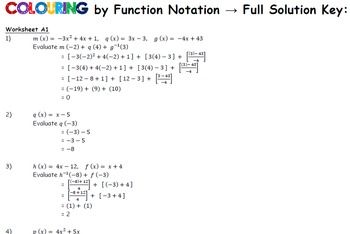 Coloring by Function Notation with Linear Inverses, Spiderman (25 Sheet Mosaic)