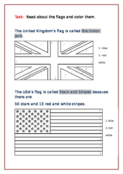 Coloring flags