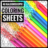 Coloring for All. 40 Kaleidoscopic Coloring Sheets
