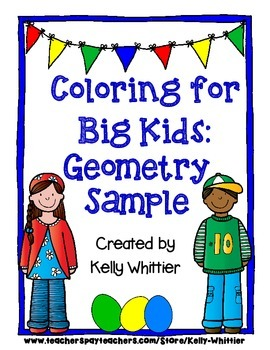 Coloring for Big Kids: Free Sample from Geometry Packet