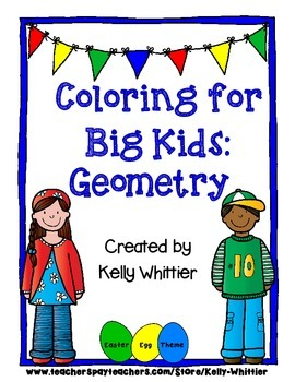Coloring for Big Kids: Geometry Review and Practice