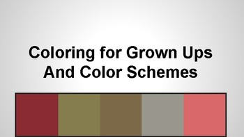 Coloring for Grown Ups and Color Schemes Using Pixlr and Adobe Color CC