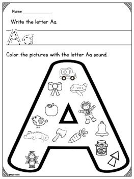 Coloring Initial Sounds