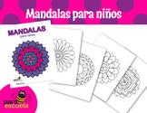 Coloring mandalas for kids (spanish cover)