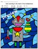 Coloring mathematic robotic