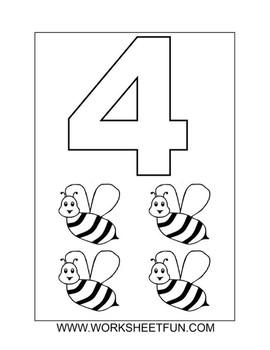 Coloring numbers ( 1 - 10 ) .. worksheet