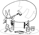 Coloring page Easter Egg