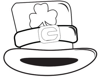 Coloring page St. Patrick's Day Hat