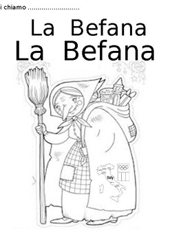 Coloring Page About LA BEFANA