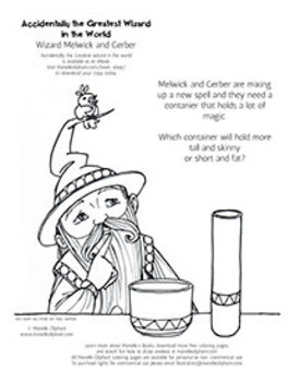 Coloring page for introducing Volume
