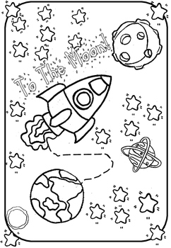 Coloring page-to the moon