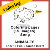 Coloring pages for the song Animales | Album Short + Fun S
