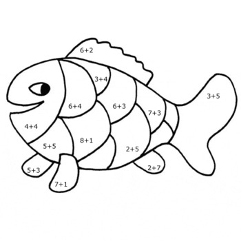Coloring pictures with addition