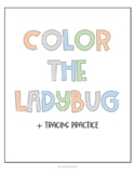 Coloring the Ladybug: Tracing Practice