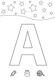 Coloring the Russian alphabet for preschoolers and kindergarteners