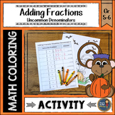 Adding Fractions Coloring with Halloween Math
