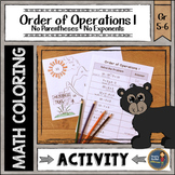 Order of Operations 1 Coloring with Math