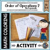 Order of Operations 2 Coloring with Math Pirate