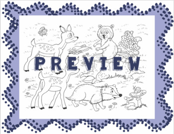 Coloring with Present Tense -IR Verbs Activity