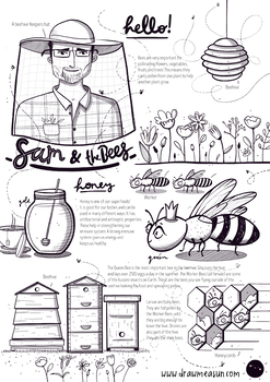 Coloring with Sam - The bees
