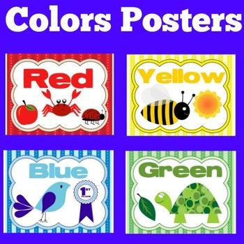 Color Posters | Color Chart | Preschool Colors | Kindergarten Colors