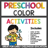 Preschool Color Activities / Pre K Learn about Colors