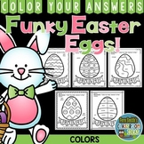 Color By Code Funky Easter Eggs Know Your Colors