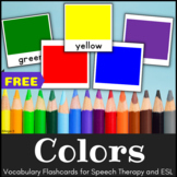 FREE Color Cards for Special Education, ESL and Autism