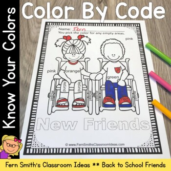 Color By Code Know Your Colors While Making New Friends