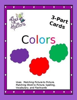 Colors 3 Part cards