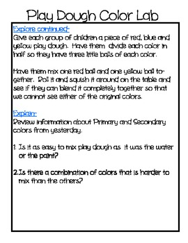 Colors - 3 hands on science lessons for mixing colors -