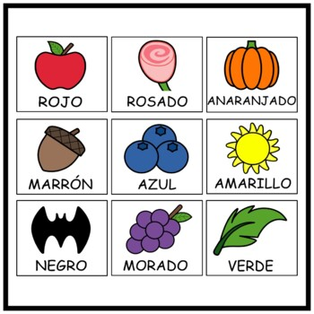 The Colors in Spanish (Notes, PowerPoint, Worksheets)