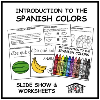 Introduction to Spanish Colors Lesson and Worksheets