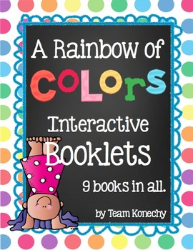 Colors - A Rainbow of Colors Interactive Booklets