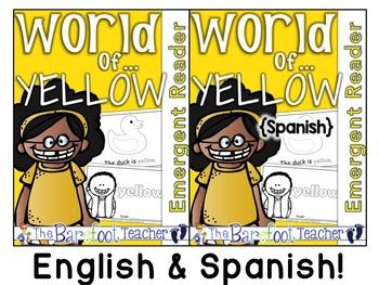 Colors {YELLOW/AMARILLO} Emergent Readers - ENGLISH & SPANISH