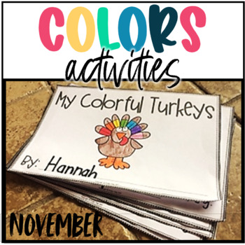 Colors Activities- November Math Centers, Thanksgiving Activities