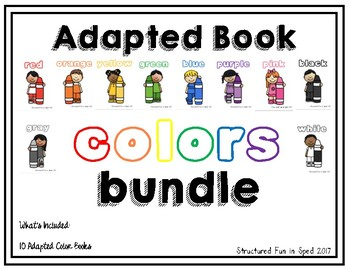 Colors Adapted Book Bundle (10 Adapted Color Books)