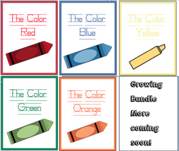Colors Adapted Book Bundle - Differentiated - Interactive - Growing Bundle books