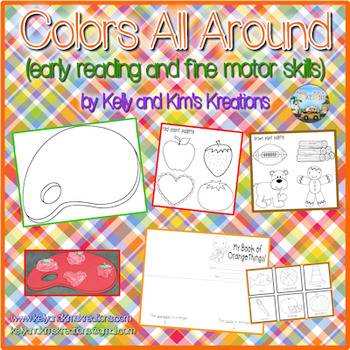 Colors All Around {early reading and fine motor skills}