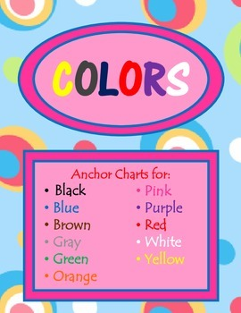 Colors Anchor Charts