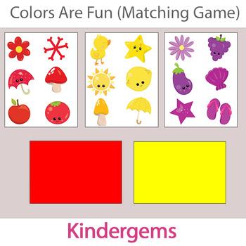 Colors Are Fun (matching game) Instant Download PDF; Preschool, Kindergarten