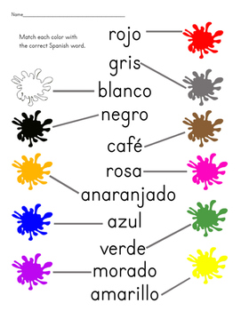 Colors Assessment in Spanish